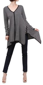 Nabisplace Knit Black White Stripe Sweater