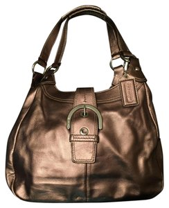 Coach Metallic Leather Hobo Bag
