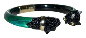 Alexis Bittar ALEXIS BITTAR Panther Crystal Chain Hinged Lucite Bracelet Green