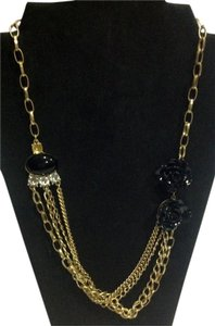 Other 1920's art deco flower and chain necklace
