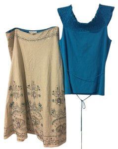 Lillie Rubin Summer Top turquoise