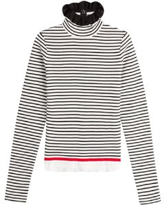 MSGM Striped Cotton Turtleneck Sweater