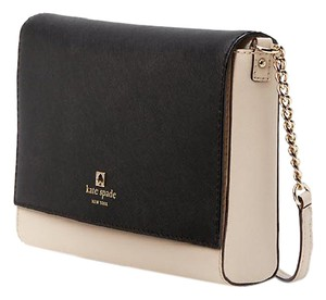 Kate Spade Charlotte Street Alek Crossbody / Satchel in Black / Pumice