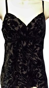 Mossimo Supply Co. Velvet Burnout Black Top