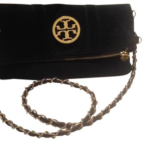 Tory Burch black & gold Clutch