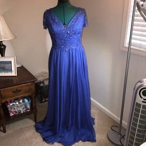 Montage Royal Blue Cameron Blake Style 114660 Dress