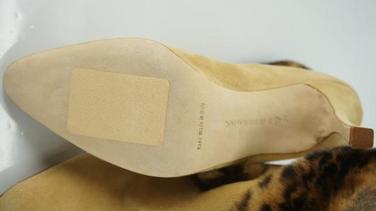 Manolo Blahnik Fur-boots Suede Pull-on-boots Size7 Camel Beige Boots