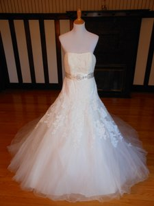 Pronovias Off White Lace Orion Destination Wedding Dress Size 8 (M)