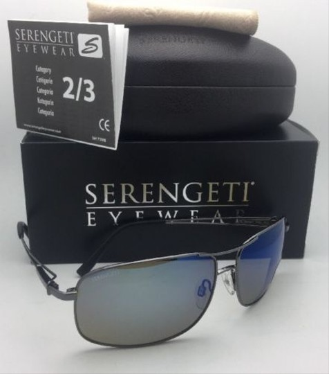 Serengeti SERENGETI PHOTOCHROMIC POLARIZED Sunglasses Sassari 8596 Gunmetal+Blue Image 1
