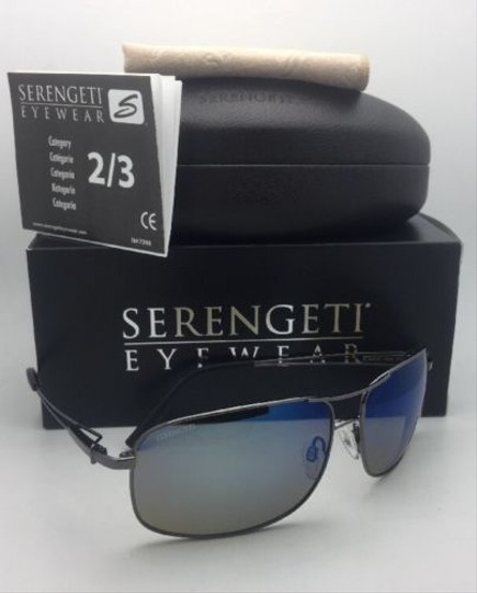 Serengeti SERENGETI PHOTOCHROMIC POLARIZED Sunglasses Sassari 8596 Gunmetal+Blue Image 3