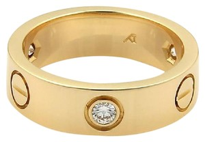 Cartier Cartier Love 3 Diamond 18k YGold 5.5mm Band Ring Size EU 48-US 4.75