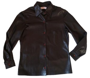 Connolly British Leather Shirt Brown Leather Jacket