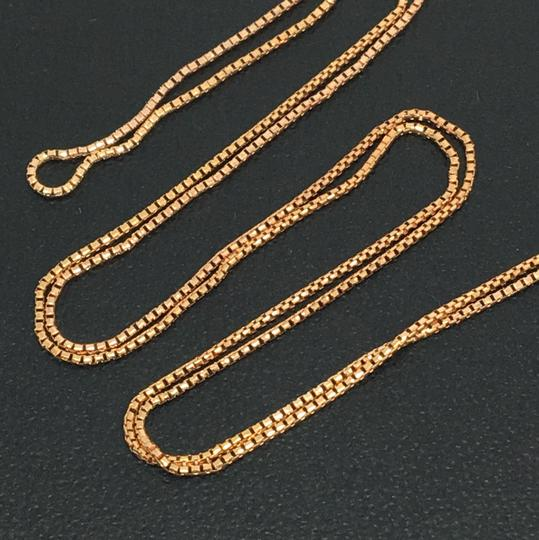 Other 14K Rose Gold Diamond Cut Round Box Chain 20 Inches Image 1