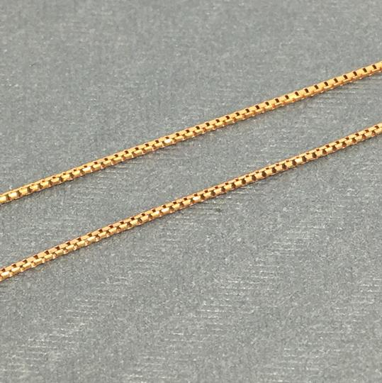 Other 14K Rose Gold Diamond Cut Round Box Chain 20 Inches Image 2
