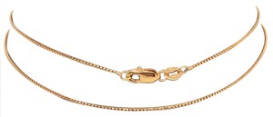 Other 14K Rose Gold Diamond Cut Round Box Chain 18 Inches