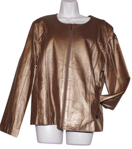 TOWER HILL gold Leather Jacket