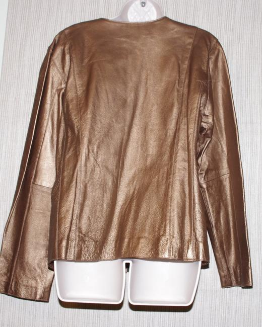 TOWER HILL gold Leather Jacket Image 1