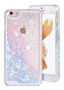 Other iPhone 5/5s pink and blue liquid sparkles case