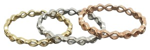 Other 14K Yellow White Gold and Rose Gold Eternity Infinity Stacklabe Ring