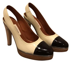 Lanvin black and cream Platforms