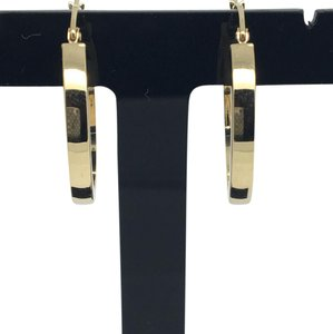 Other 14K Yellow Gold Flat Hoop Earrings