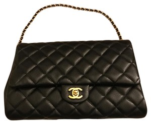 Chanel Caviarflap Black Clutch