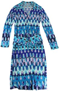 Emilio Pucci short dress Blue / Green / Pink / White Vintage Geometric on Tradesy