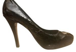 Steven by Steve Madden Patent Leather Quilted Heels Black Pumps