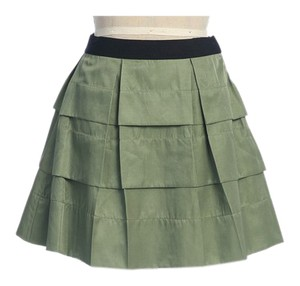Anthropologie Pleated Chic Summer Spring Hazel Mini Skirt GREEN