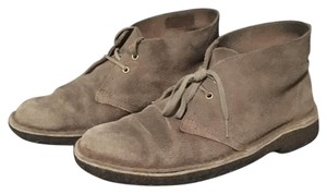 Clarks taupe distressed Boots