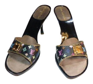 Louis Vuitton BLACK MURAKAMI Mules