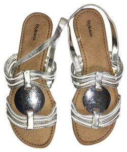 Style & Co Silver Sandals