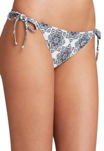 Ella Moss cream Brown Moselle Floral Side tie bikini bottom