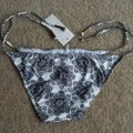Ella Moss cream Brown Moselle Floral Side tie bikini bottom Image 3