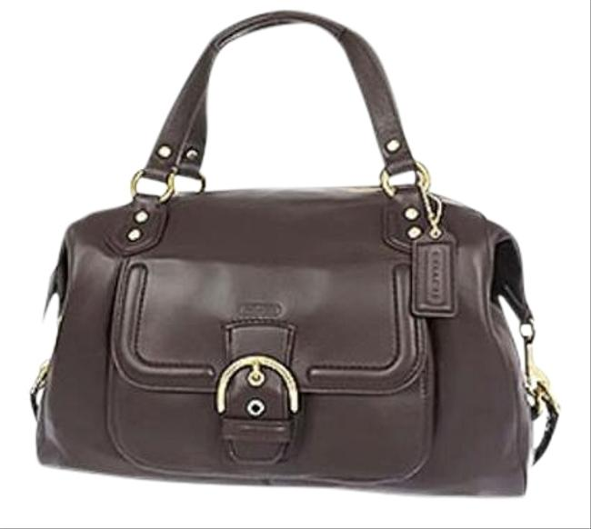 Item - Campbell Mineral Convertible Mahogany Leather Satchel