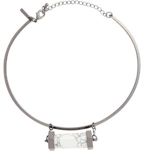 Topshop Stone Pendant Collar Necklace