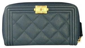 Chanel BN Chanel Boy Blue Zipped Around Wallet