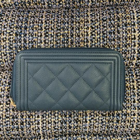 Chanel BN Chanel Boy Blue Zipped Around Wallet Image 1