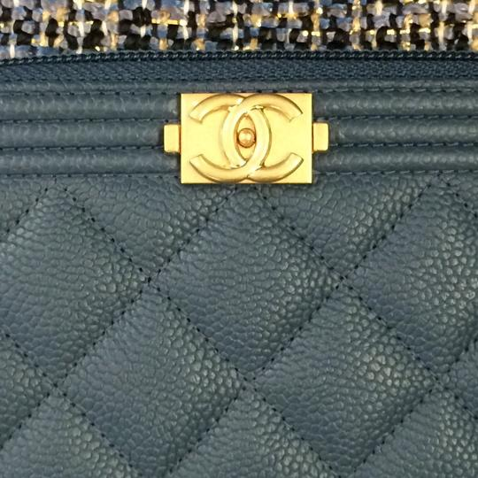 Chanel BN Chanel Boy Blue Zipped Around Wallet Image 3