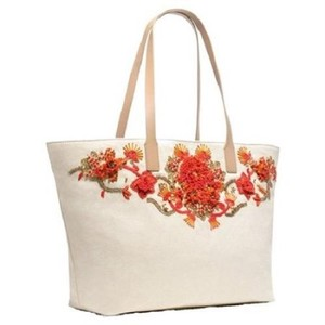 Tory Burch Tote in ivory/coral