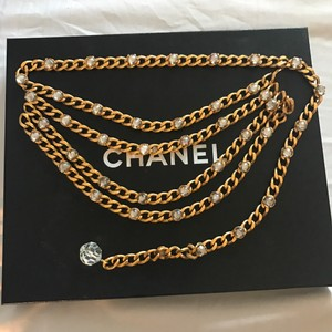 Chanel 4 Strand gold chanel chain belt