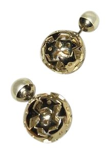 Dior Dior Tribal Faux Pearl and Gold Toned Earrings