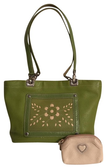 Preload https://img-static.tradesy.com/item/20875423/brighton-reversible-and-convertible-to-cross-body-wcoin-purse-green-white-multi-leather-satchel-0-2-540-540.jpg