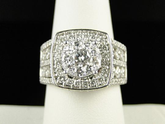 Other 14K White Gold Xl Solitaire Diamond Bridal Engagement Ring Set 3.25 Ct Image 2