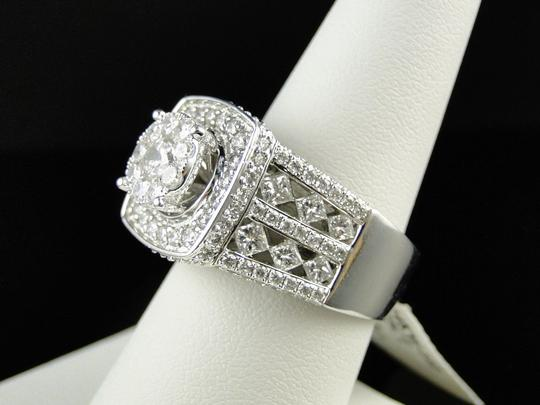 Other 14K White Gold Xl Solitaire Diamond Bridal Engagement Ring Set 3.25 Ct Image 3