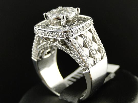 Other 14K White Gold Xl Solitaire Diamond Bridal Engagement Ring Set 3.25 Ct Image 5