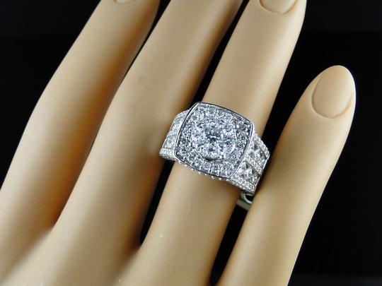 Other 14K White Gold Xl Solitaire Diamond Bridal Engagement Ring Set 3.25 Ct Image 7