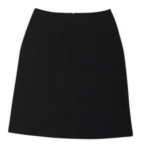 Prada Designer Classic Work Skirt Black