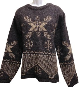 Eastern Mountain Sports Wool Cotton Snowflake Ski Linen Sweater