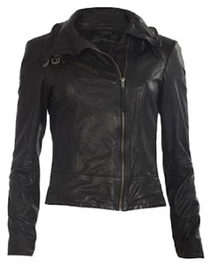 AllSaints Leather Moto Motorcycle Leather Jacket